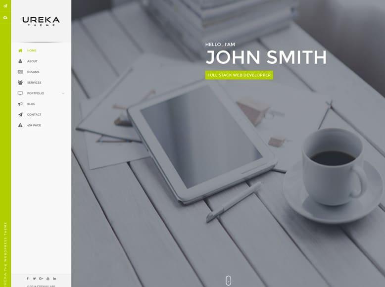Ureka - Plantilla WordPress para la creación de currículums online y portafolios personales