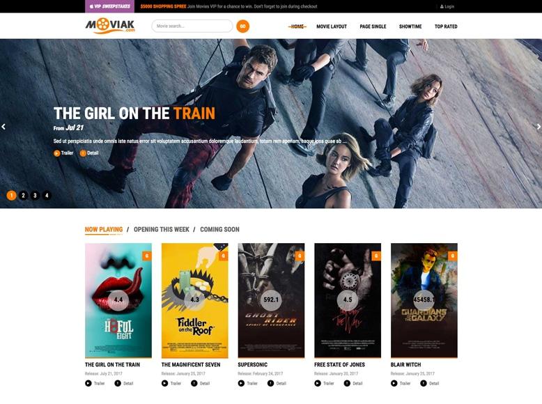 AmyMovie - Tema WordPress para promoción y valoración de películas y vídeos