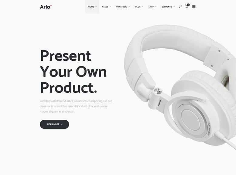 Arlo - Tema WordPress para landing pages de productos y servicios