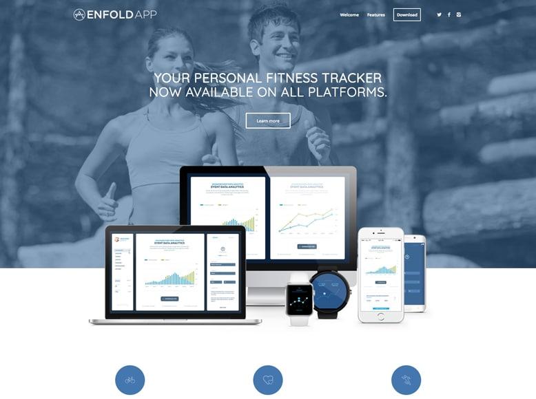 Enfold - Plantilla WordPress para startups, empresas y desarrolladores de app móviles