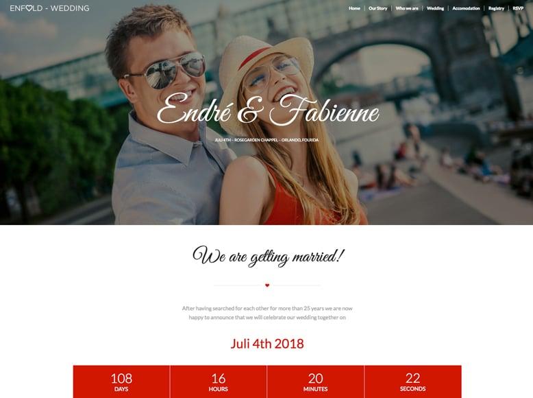 Enfold - Plantilla WordPress para bodas y agencias de organización de bodas y celebraciones