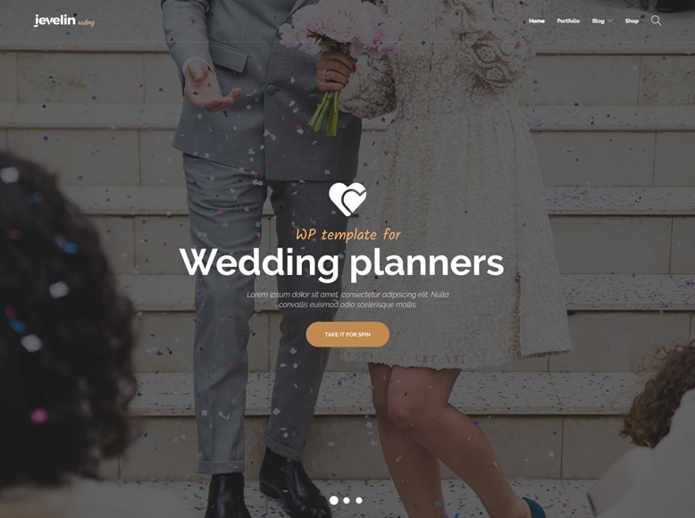 Jevelin - Tema WordPress moderno para bodas y agencias de organización de eventos