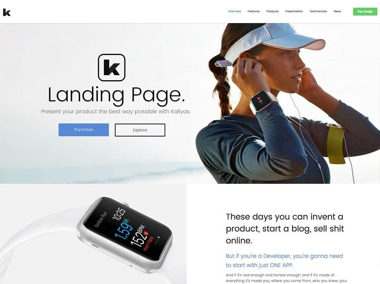 Kallyas - Plantilla WordPress para páginas de aterrizaje profesionales y creativas