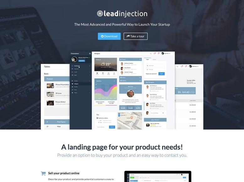 Leadinjection - Plantilla WordPress para crear landing pages rápidamente