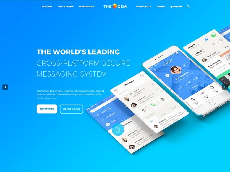 TheGem - Plantilla WordPress moderna para app móviles y software