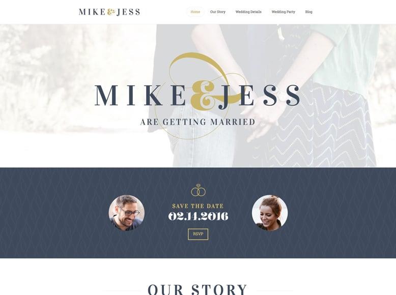 X - Plantilla WordPress para sitios web de enlaces matrimoniales y celebraciones