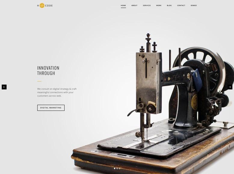 H-Code - Plantilla WordPress moderna para la promoción de productos y servicios de empresas