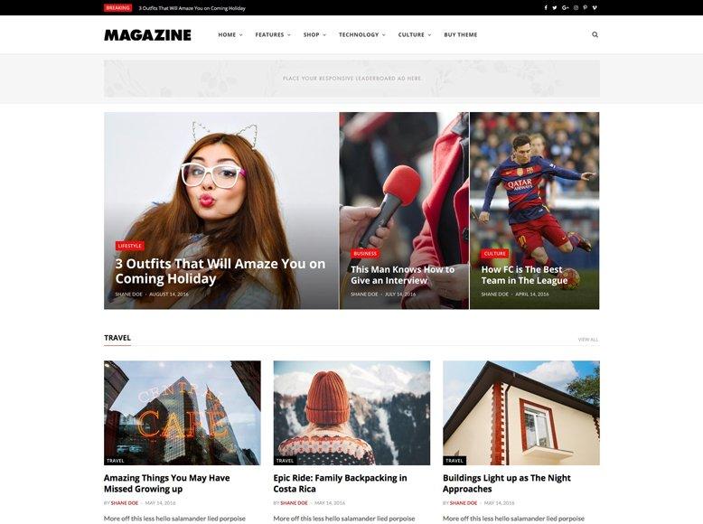 CheerUp - Plantilla de WordPress para revistas digitales de moda, salud