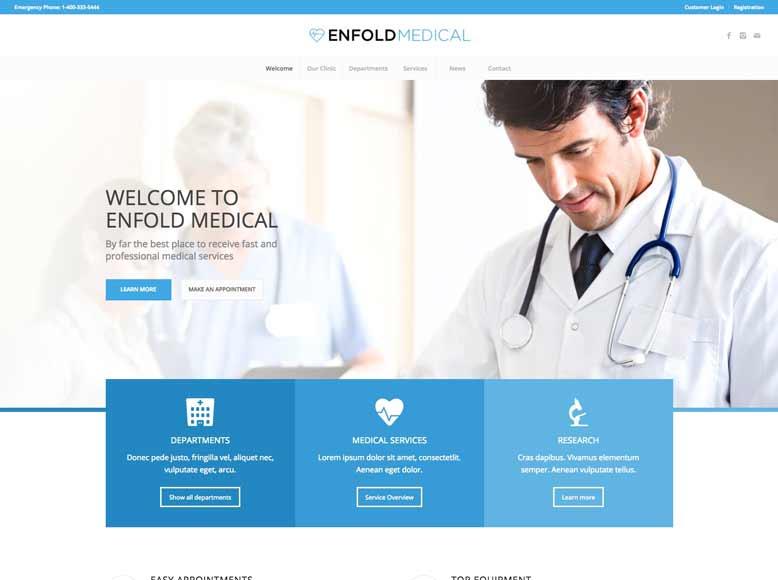 Enfold - Plantilla WordPress para centros médicos y clínicas sanitarias