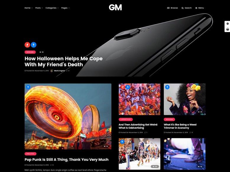 Grand Magazine - Tema WordPress para revistas online profesionales y minimalistas