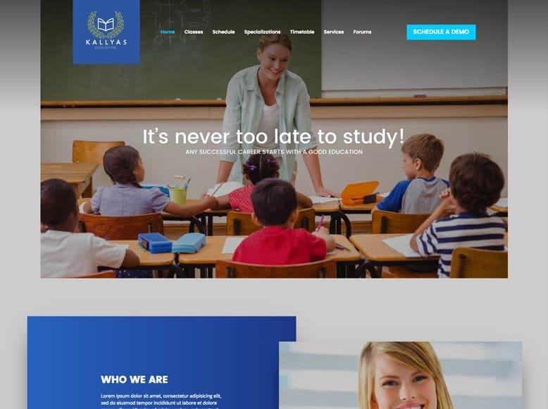 Kallyas - Tema WordPress para escuelas, colegios, academias y universidades