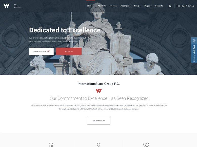 Law Services - Plantilla WordPress para servicios legales, abogados, notarios, procuradores