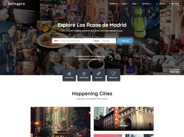 ListingPro - Plantilla WordPress para directorios de empresas y servicios