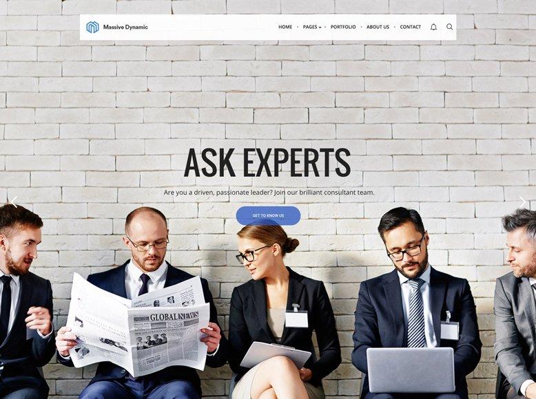 Massive Dynamic - Plantilla WordPress moderna para abogados, asesorías legales y laborales