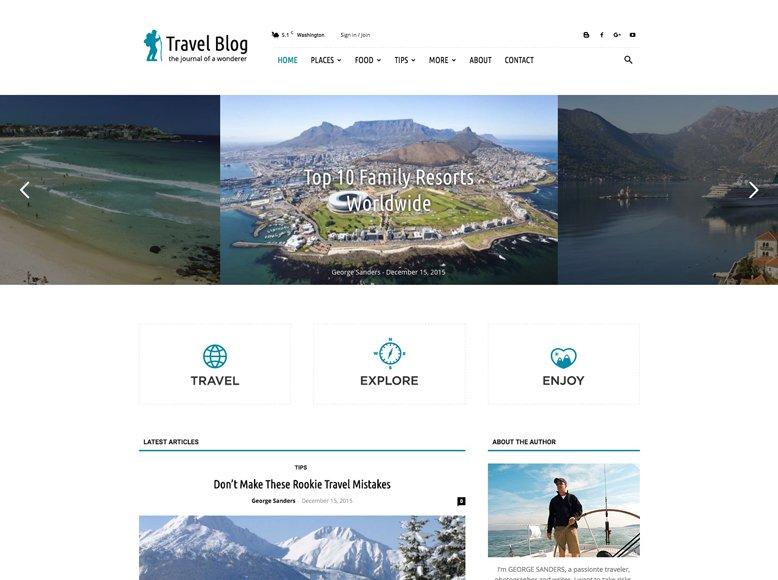 Newspaper 7 - Tema WordPress para blogs y revistas de viajes