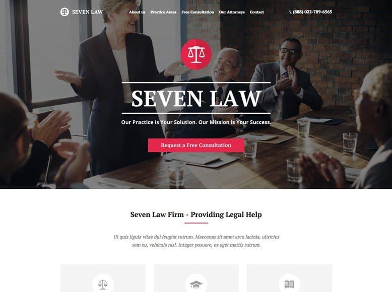 The7 - Plantilla WordPress para bufetes de abogados y asesorías jurídicas