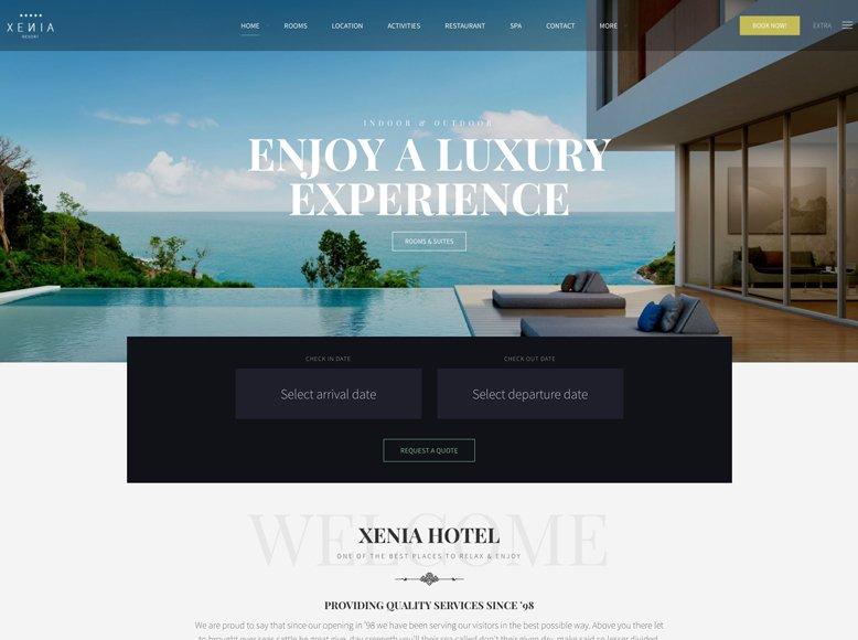 Hotel Xenia - Plantilla WordPress para hoteles, casas rurales y hostales con encanto