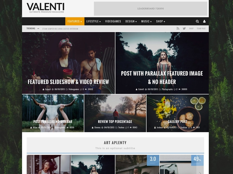 Valenti - Tema WordPress para revistas online y blogs de análisis de productos
