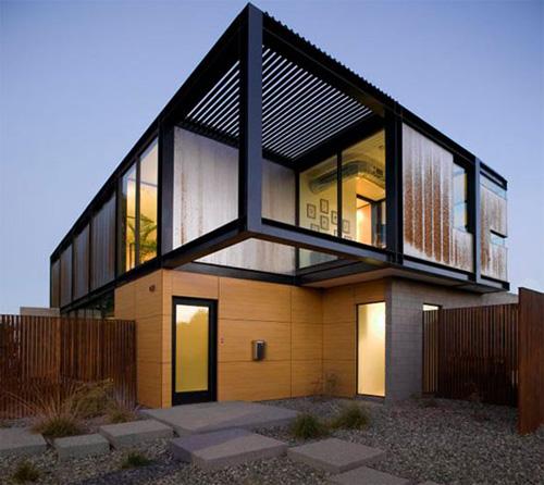 Desain Eksterior Rumah Warna Hijau