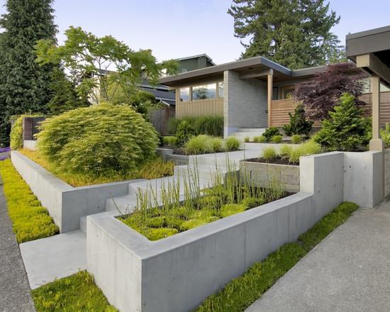 modern front yard design http