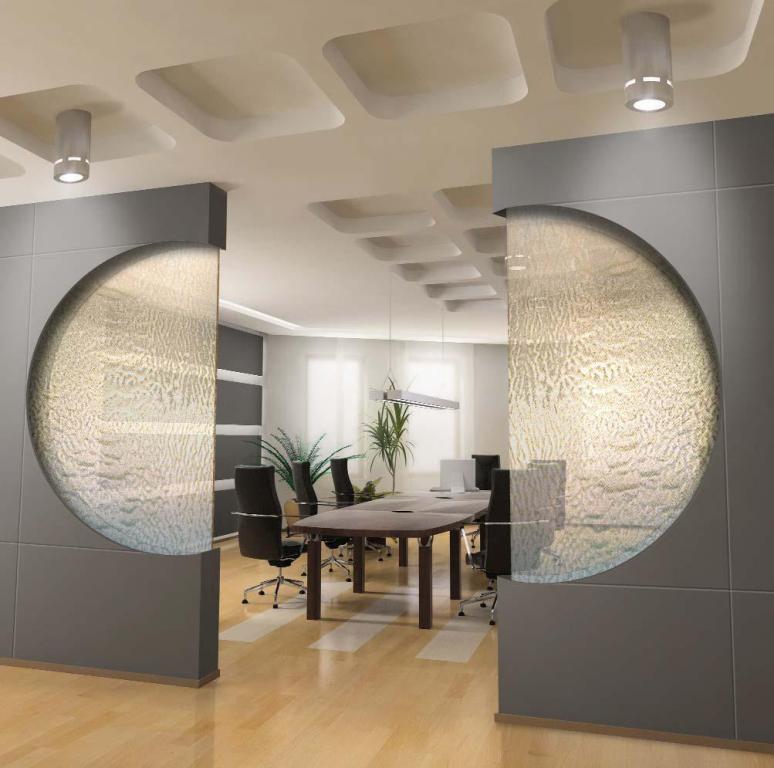 Indoor glass waterfall  httplometscom