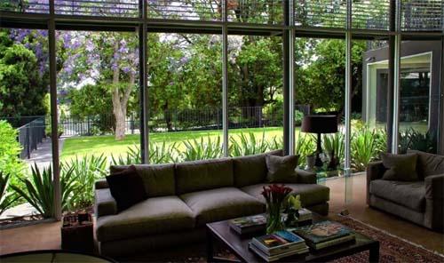 living room with garden  httplometscom