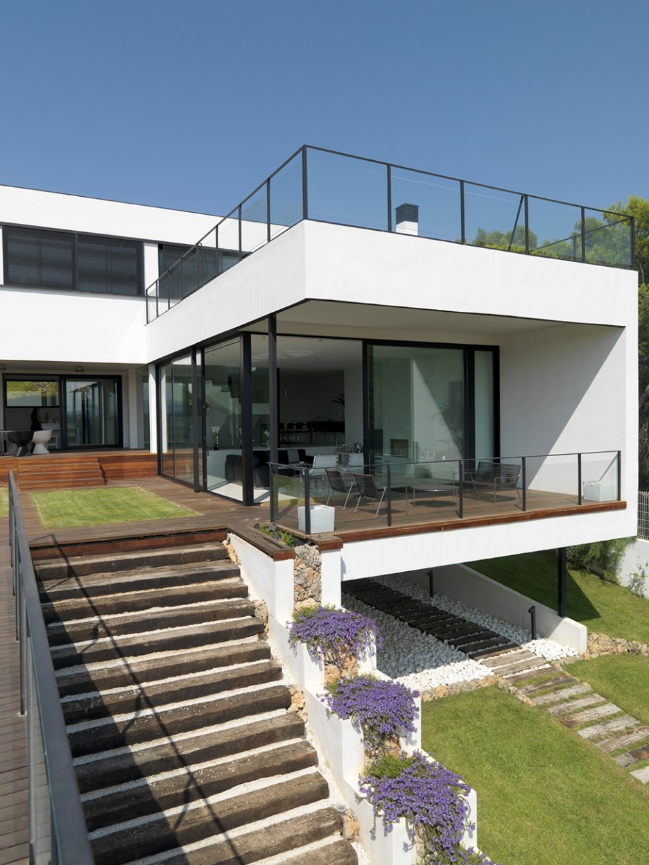 Modern Outdoor Stairs Outdoor Stairs Ideas Http Lomets Com | Modern Stairs Design Outdoor | Indoor | Prefab Metal Residential Exterior | Terrace | Metal | Railing