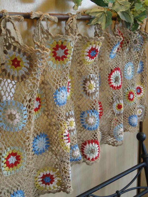 crochet kitchen curtain  httplometscom
