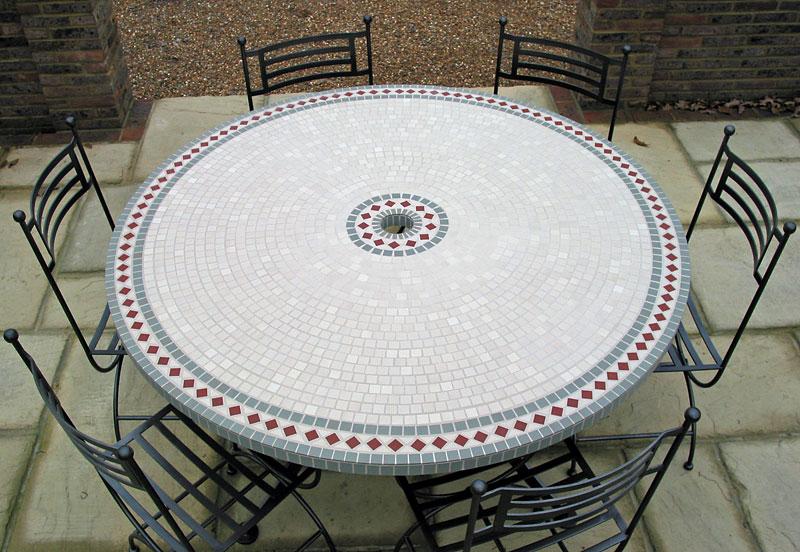mosaic table  httplometscom