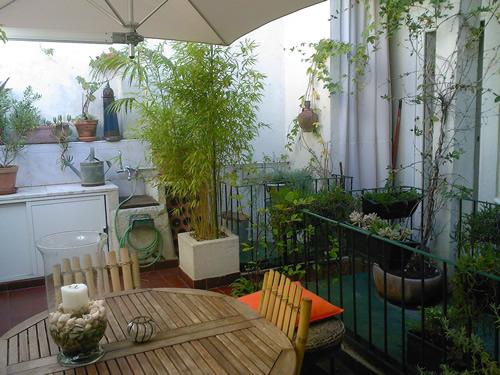 modern terrace garden  httplometscom