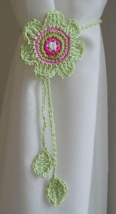 crochet curtain tie back  httplometscom
