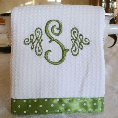 Monogrammed Kitchen Towels Contemporary Rugs Embroidery   Http://lomets.com
