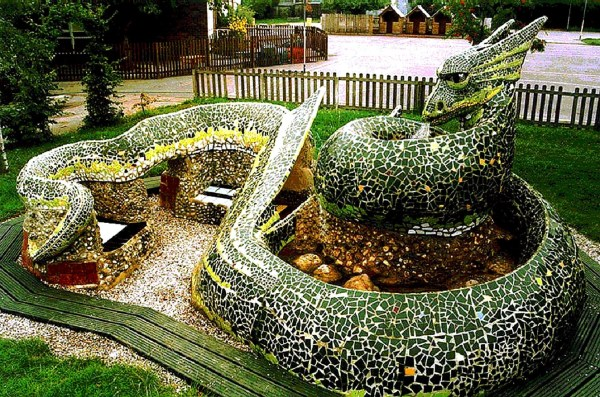 Dragon Mosaic Sculpture