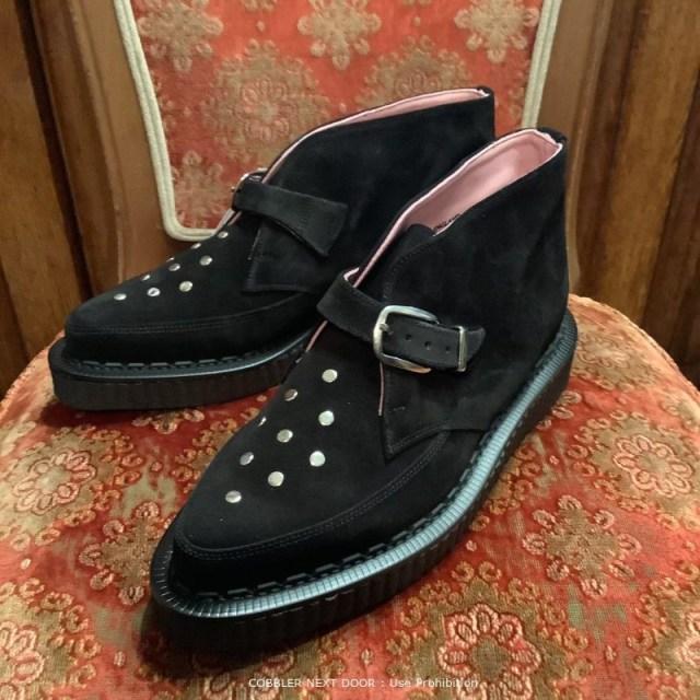 GeorgeCoxのブラックキャッツ ブーツのチャッカブーツの