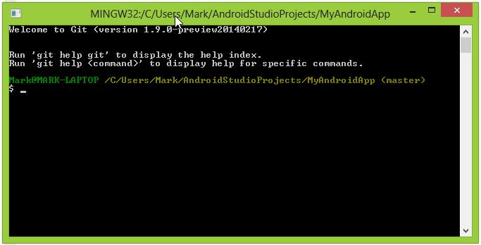 Git Bash in Windows
