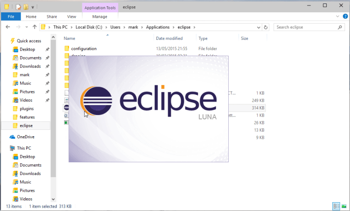 Eclipse Loading Screenshot