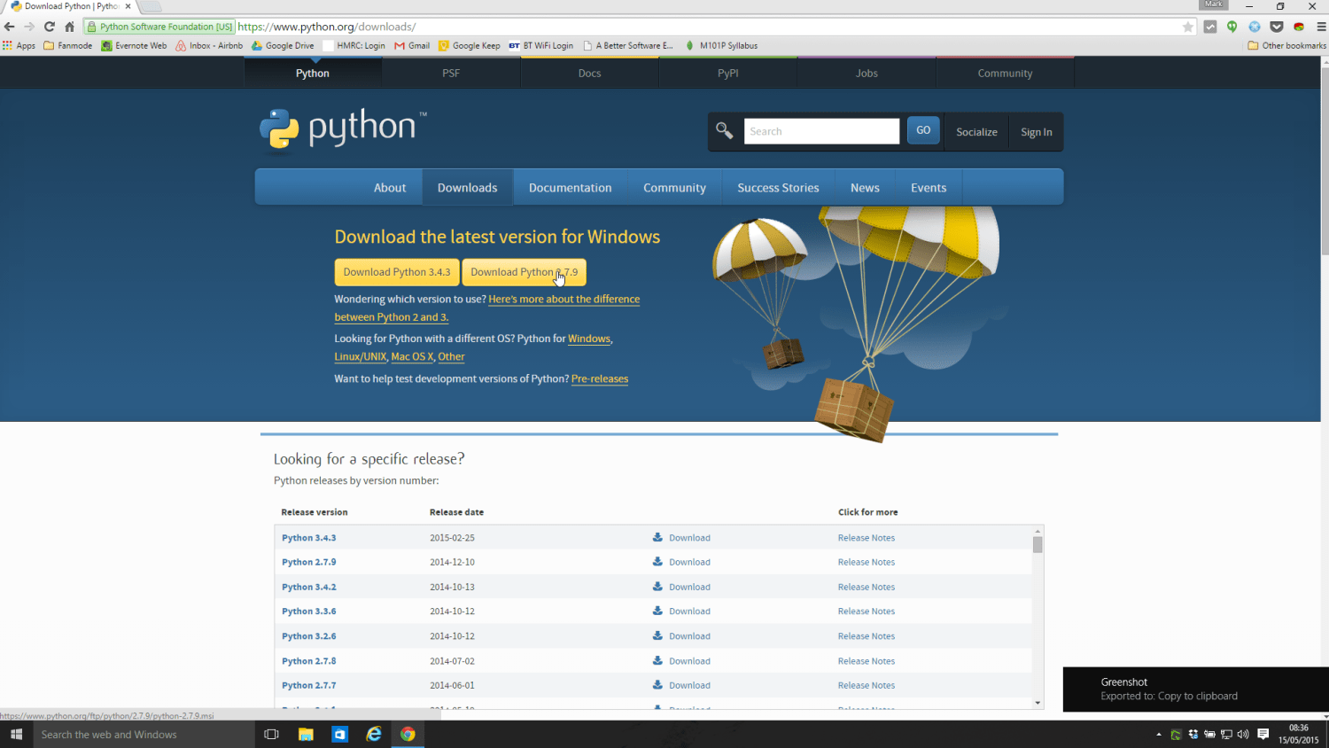 Download Python Page Screenshot