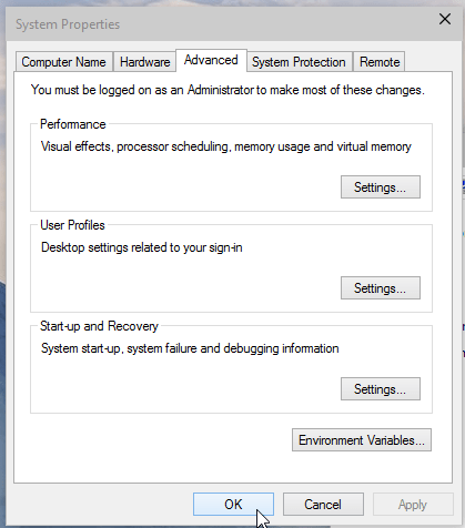 Windows 10 System Properties Screenshot