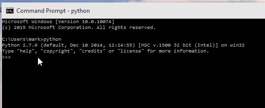 Windows 10 Command Prompt Screenshot