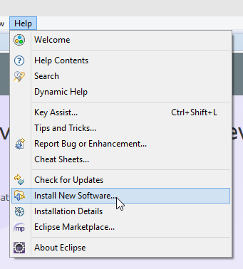 Eclipse Install New Software Screenshot