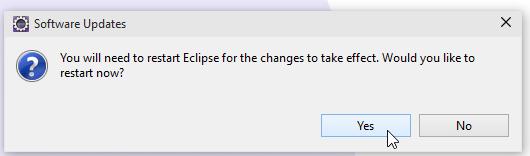 Restart Eclipse Screenshot