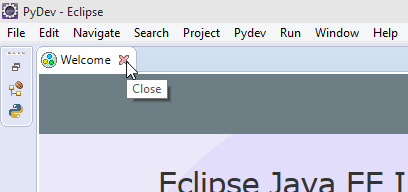 Eclipse Close Welcome Screen screenshot