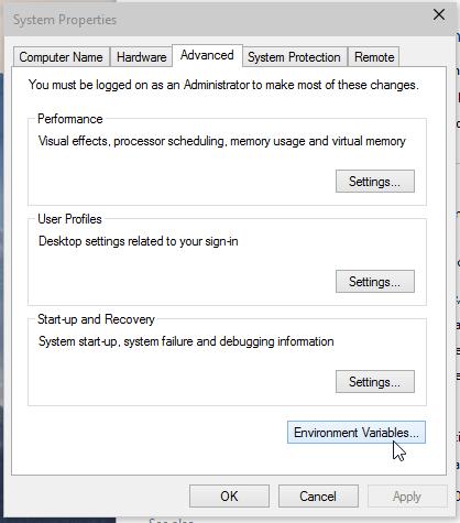 Windows 10 system properties screenshot