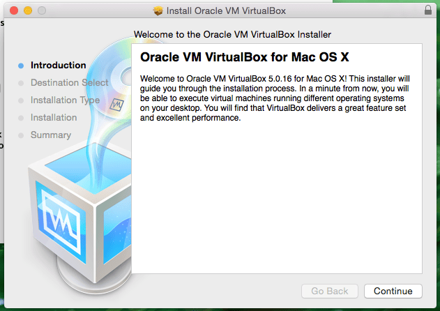 Oracle VM VirtualBox for Mac OS X Screenshot
