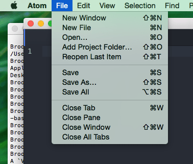 Atom File Add Project Folder Screenshot