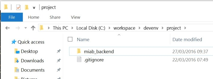 miab_backend directory screenshot