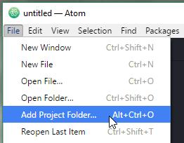 Atom Add Project Folder