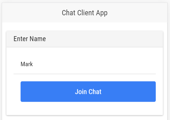Client Chat App Screenshot