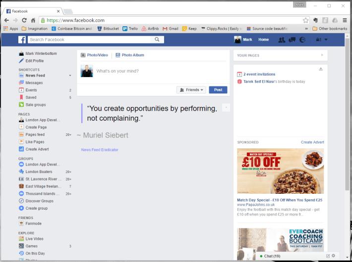 Facebook News Feed Eradicator