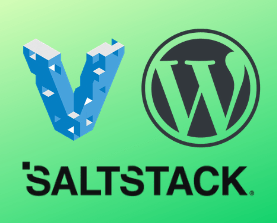 Vagrant WordPress and Saltstack software logos bunched together